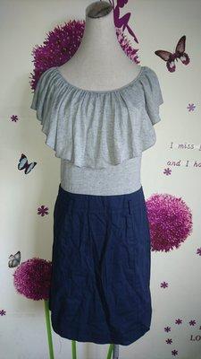 iROO 灰+藍連身裙/洋裝(99)