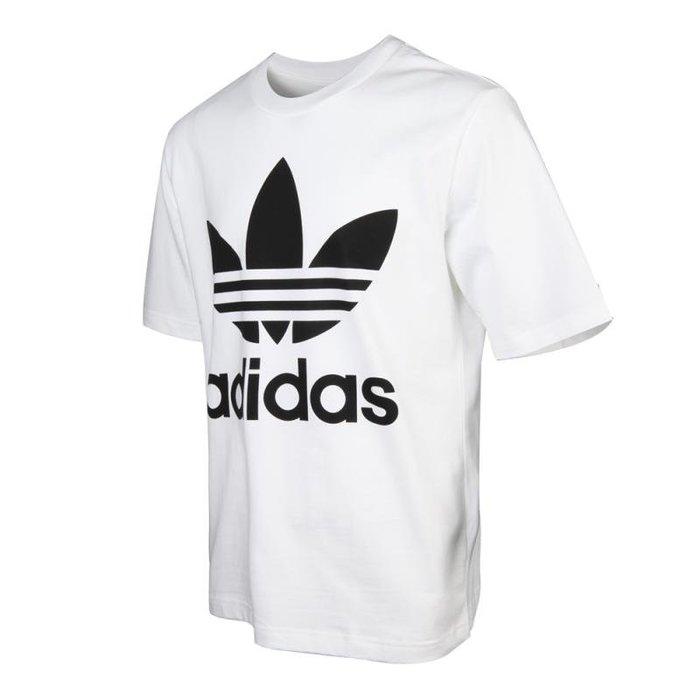 【IMPRESSION】adidas Trefoil Oversize 男款 三葉草 寬版 短袖 白、黑 現貨