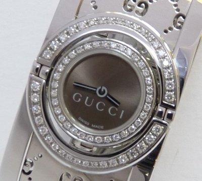 Gucci 原價約14萬元.盒單齊 Twirl 鑽石女錶