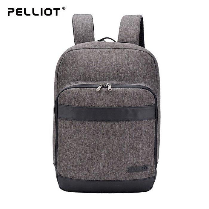 【露西小舖】法國Pelliot防潑水大容量商務雙肩背包多功能背包休閒背包電腦包電腦背包運動背包旅行背包學生背包學生書包