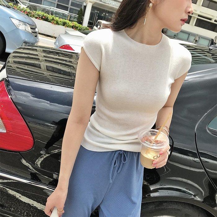 《巴黎拜金女》羊毛短袖針織衫薄款空調衫修身百搭上衣
