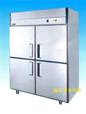 鑫忠廚房設備-餐飲設備:ST系列-全新5尺四門半凍半藏不鏽鋼冰箱-賣場有西餐爐-快速爐-烤箱-咖啡機-攪拌機-煎板爐
