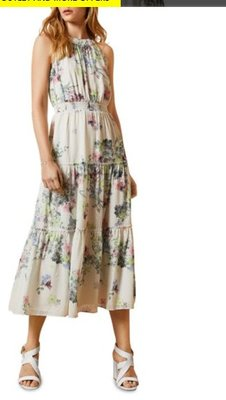 Ted Baker Pergola Tiered Halterneck Midi Dress