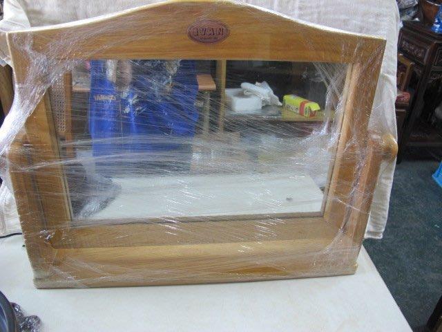二手舖 NO.1686 木製方形穿鞋鏡 立鏡