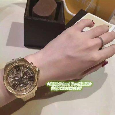 6ae930ce3eee 美國Michael Kors代購網☆ MK手錶燦金閃耀羅馬晶鑽腕