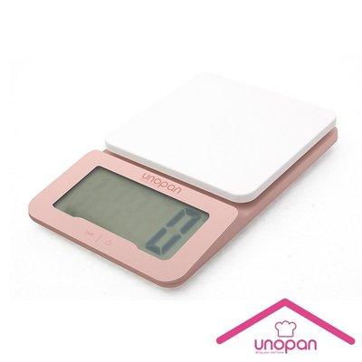【無敵餐具】《UNOPAN》廚房電子秤-承重3kg(玫瑰金)/料理秤/UN00105【UN00105】