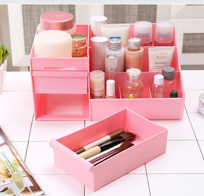 大號創意桌面收纳盒 抽屉式化裝品收纳盒