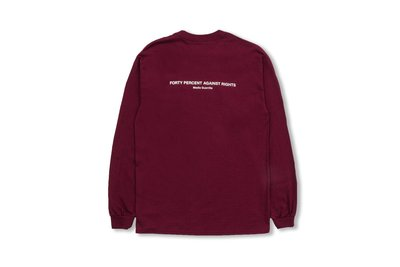 (A.B.E)FORTY PERCENT AGAINST RIGHTS AW19 BANNER LS TEE 02 兩色