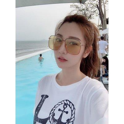【免運 】Gucci 徐若瑄 曾莞婷 同款 新款 復古方框墨鏡 太陽眼鏡 小臉神器《預購》免運