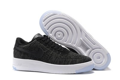 D-BOX Nike Air Force 1 Flyknit 編織 低筒 空軍 黑色 跑步鞋