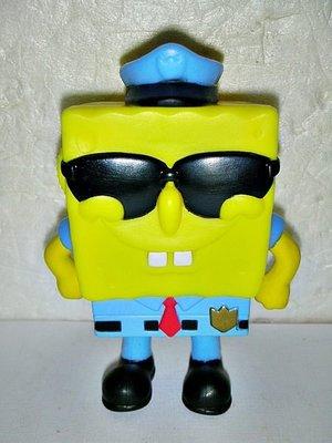 #L.(企業寶寶玩偶娃娃)少見麥當勞海綿寶寶警察造型公仔--值得收藏!/6房樂箱25-1/-P