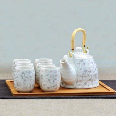 陶瓷茶具套裝家用茶壺茶盤簡約現代整喝茶...