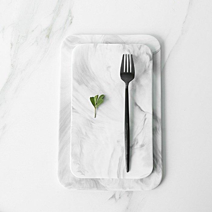 ABOUT。R 北歐大理石紋陶瓷托盤西餐盤麵包板壽司板美食擺拍道具時尚裝飾盤保養品收納盤室內設計裝飾品擺件
