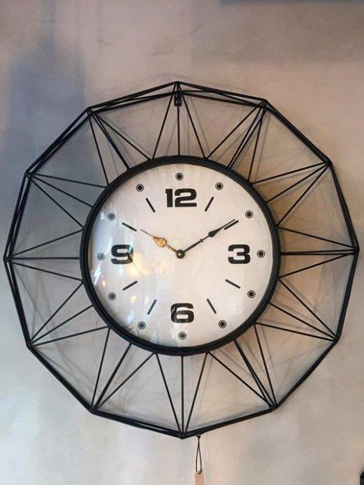【曙muse】北歐工業風大掛鐘 時尚鐵製掛鐘 經典時鐘 loft 工業風 咖啡廳 民宿 餐廳 住家