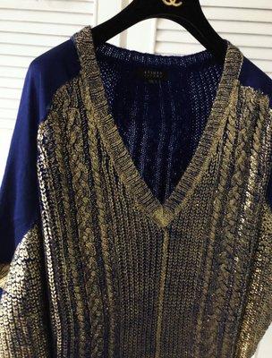 田山淳朗A/T 真品米色ATSURO TAYAMA 金蔥X雪紡喇叭五分袖罩衫