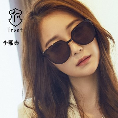 Front 太陽眼鏡 Palette Gd57 (黑/棕) 深灰色鏡片 墨鏡 李熙貞 李志勳配戴款【原作眼鏡】