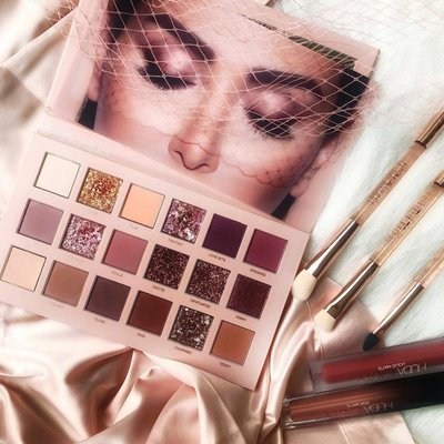 義大利 代購 Huda Beauty 裸色系 18色眼影盤 The New Nude Palette 沙漠眼影 玫瑰眼影