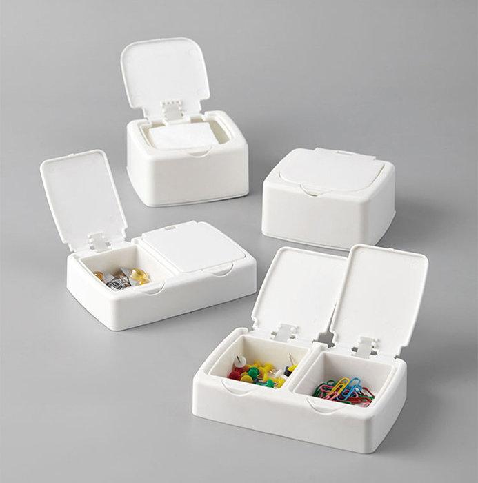 海馬寶寶 彈蓋收納盒 防塵整理盒 小物收納盒 按壓式收納盒 儲物盒