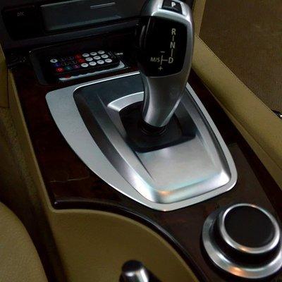 JERL車體精品 BMW 中控排檔座裝飾面版 鋁合金排檔面板 中控排檔裝飾框 內裝改裝 E60 E61