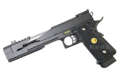 【戰地補給】台灣製WE  7吋龍B版全金屬黑色戰鬥版瓦斯槍(滑套可動可後定,後座力大) 桃園市