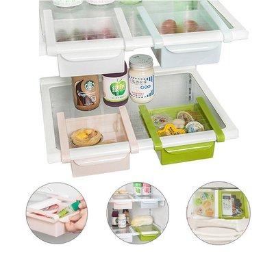 抽屜式 收納盒 冰箱 玻璃桌 適用 巧思新設計 透明看得見 收納盒 置物架 保鮮隔板 移動式置物架
