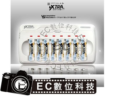 EC數位】日本技研 VXTRA 電池低自放鎳氫專用4.8A大電流智慧型充電器 AAA AA  3號 4號 一次可充八顆