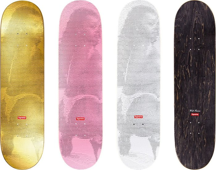 【超搶手】全新正品2017 SS 春夏 Supreme Ad Girl Skateboard 歌手 人物 滑板 白金粉