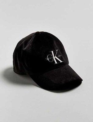 美國百分百【全新真品】Calvin Klein 男 棒球帽 配件 帽子 遮陽帽 CK logo 絨布 黑色 I066