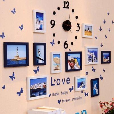 現代簡約照片墻 相框墻客廳相框掛墻創意組合臥室裝飾相片墻畫框—莎芭