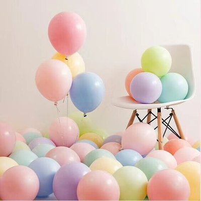 哈尼店鋪*ins風格網紅馬卡龍氣球 花店材料 生日派對布置糖果色求婚房裝飾優惠推薦(五件起購買)