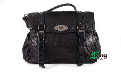 [Eco Ring HK]*Mulberry 2 Way Bag Black Lamp Skin Python*Rank A/B -187022944-