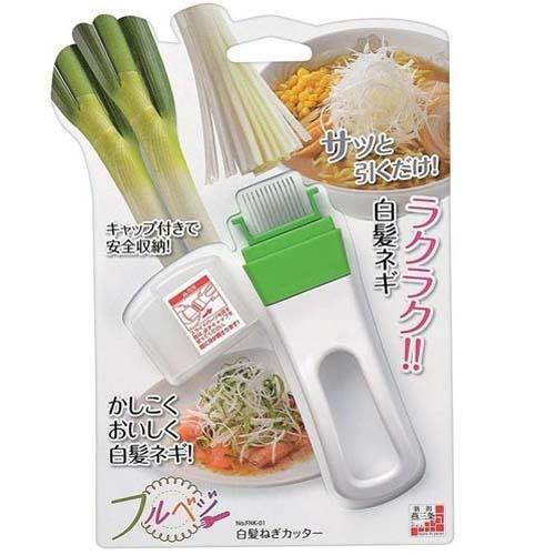【東京速購】日本製 燕三条 多功能 手柄型 蔥絲刀 切絲刀 蔥花器 切蔥器 刨絲刀