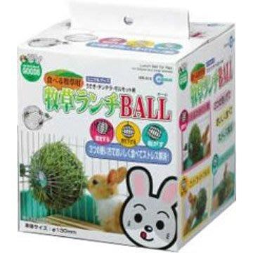 MARUKAN 三合一 懸吊式 兔用牧草球 牧草架 固定座 MR-610(MR610)球徑15cm,每顆290元