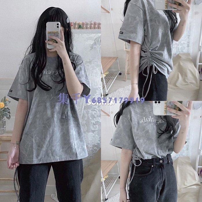 【集千限時免運】somi家 韓國直郵fancyclub扎染抽繩短袖T恤 ins同款 采購正品