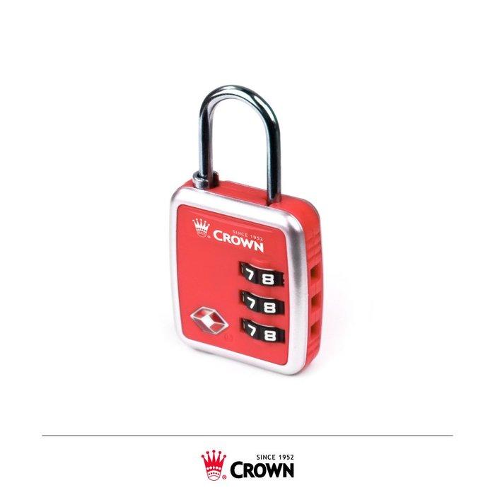 【CROWN皇冠】密碼鎖 行李箱配件(C-5131紅色)【威奇包仔通】