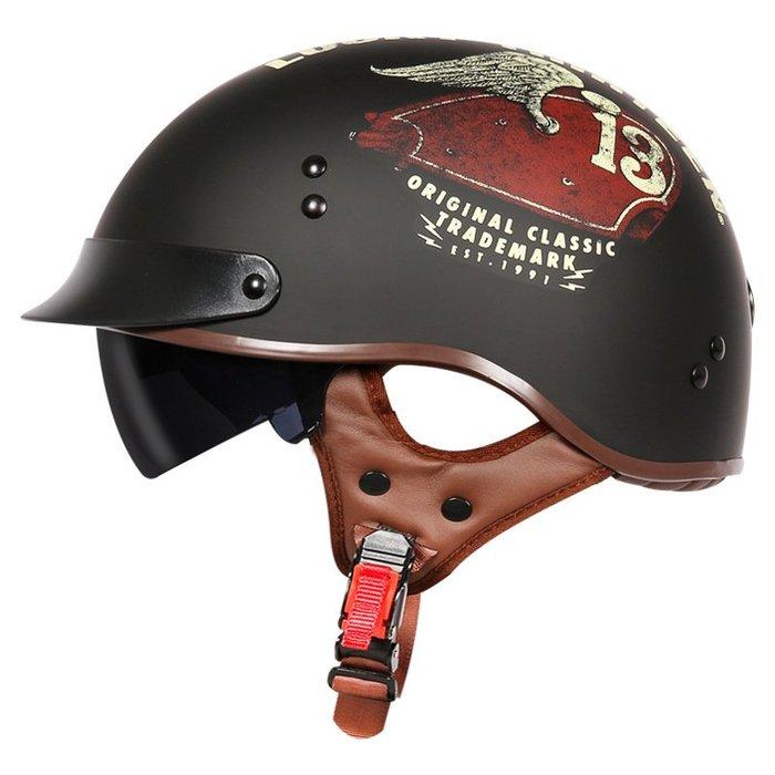 無憂戶外 美國TORC復古機車頭盔男摩托車半覆式夏季太子盔女電動車瓢盔 PWHY-217