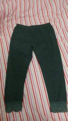 蕾絲下擺顯瘦內搭褲/打底褲(163公分穿約七分褲、八分褲)