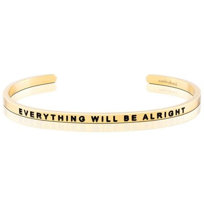 MANTRABAND 台北ShopSmart直營店 Everything Will Be Alright 金色 一切OK