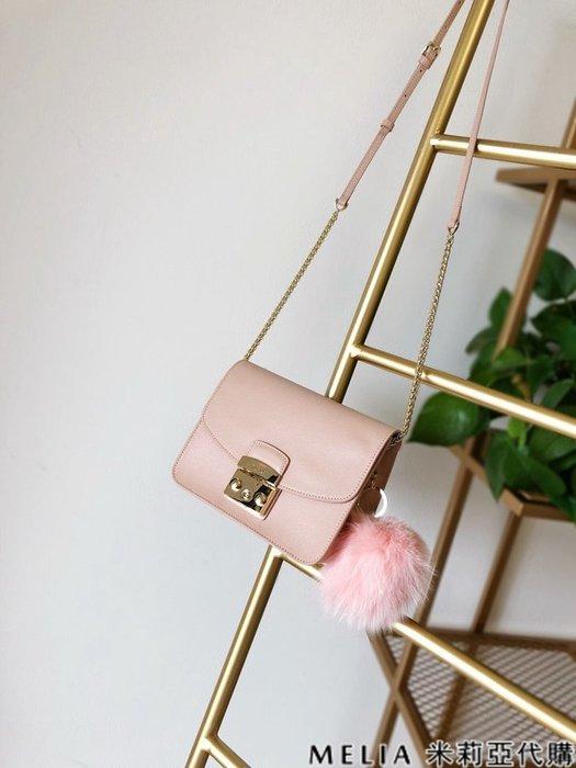Melia 米莉亞代購 商城特價 數量有限 每日更新 19ss FURLA 芙拉 單肩斜背包 中號 送兔毛吊飾 粉色