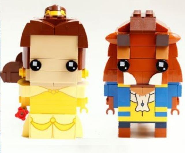將牌 39071 美女與野獸 貝兒公主 野獸王子 神鬼奇航 傑克船長 阿爾曼多 薩拉查 Q版公仔人偶 相容樂高LEGO 創意 積木