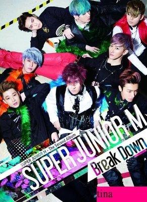 Super Junior-M Vol. 2 - Break Down 韓版第二張華語專輯全新未拆下標即售東海始源圭賢銀赫晟敏