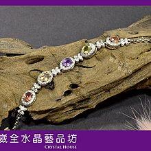 【崴全水晶】天然 彩色剛玉 寶石 銀飾 手鍊 【剛玉總重約 3.13cts】
