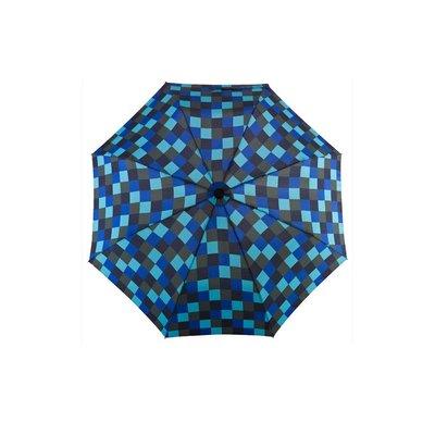 德國[EuroSCHIRM] 全世界最強雨傘 TELESCOPE HANDSFREE / 免持健行傘 小(方格藍)
