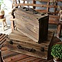 店面注目商品展示箱 復古收納手提木箱 氣氛...