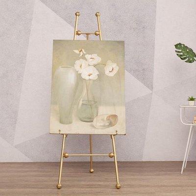 歐式新款鐵藝油畫架成人相框架落地支架展示架海報架照片托架婚慶ATF