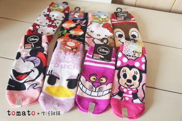 ˙TOMATO生活雜鋪˙日本進口雜貨迪士尼米妮/妙妙貓/小不點/奇奇蒂蒂/黛西/kitty兒童短襪