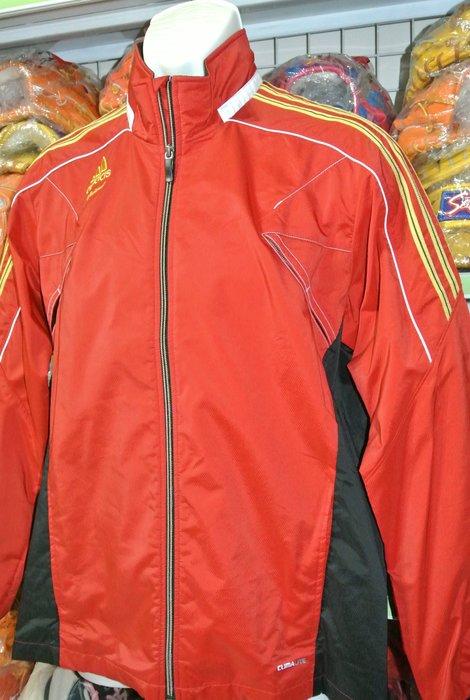 貳拾肆棒球-日本帶回adidas職業契約選手用外套背面有大logo/紅L