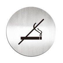 [職人の紙.二店工場] 美國迪多 Deflect-o/高質感鋁製品 系列/標示貼牌/禁止吸菸  圓形/含稅價 !