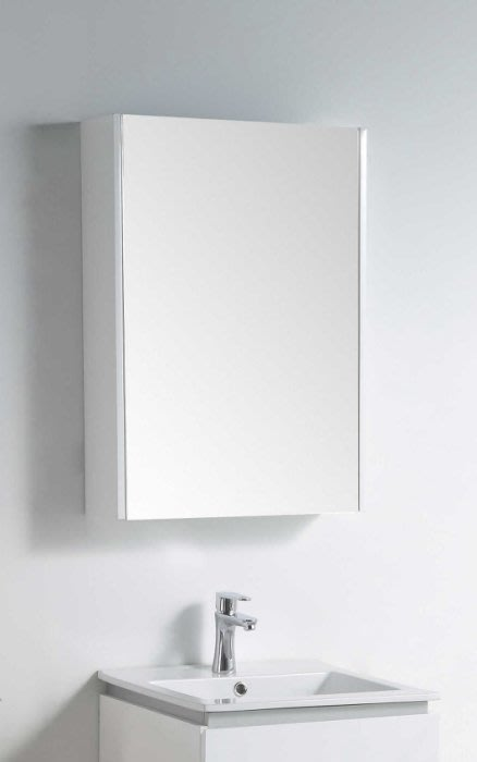 《E&J網》MooE M1-55WH 防水發泡板 55CM鏡箱(全鏡面)多功能鏡箱 鏡櫃/左開右開皆可適用 詢問另有優惠