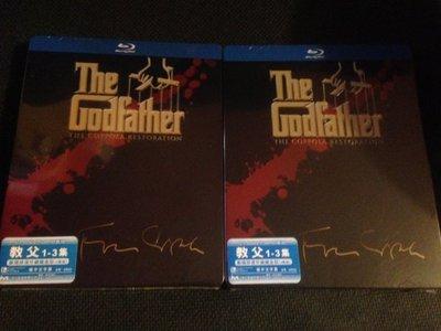 (全新未拆封)教父三部曲 The Godfather 四碟限量鐵盒版 藍光BD(洲立公司貨)